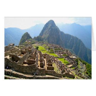 Cartão Vista majestosa de Macchu Picchu