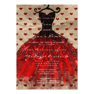 Cartão Vista o vermelho nupcial Kraft dos corações 16t de