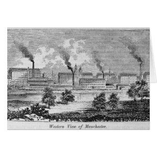 Cartão Vista ocidental de Manchester