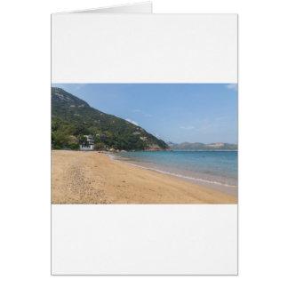 Cartão Vista panorâmica da ilha macilento de Sok Kwu