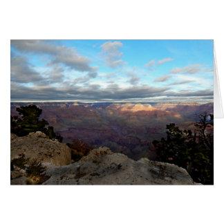Cartão Vista panorâmica do Grand Canyon