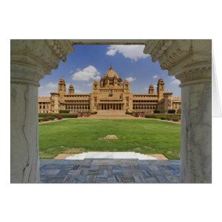 Cartão Vista traseira do hotel do palácio de Umaid