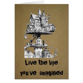 Cartão Vive a vida onde você imaginou