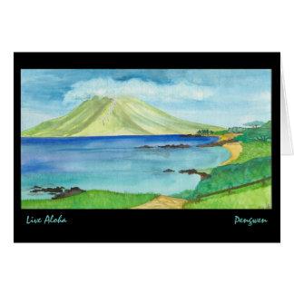 Cartão Vive Aloha o cartão, pintura de Maui sul
