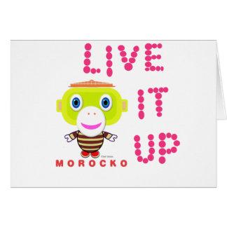 Cartão Vive Macaco-Morocko Acima-Bonito