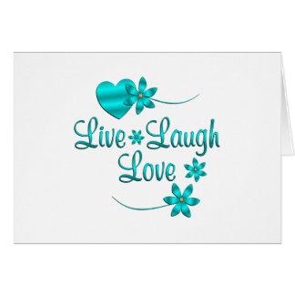 Cartão Vive o amor do riso