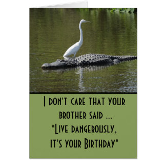 Cartão Vive perigosamente o aniversário