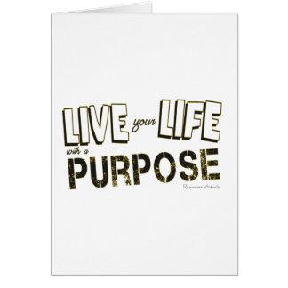 Cartão Vive sua vida com uma finalidade