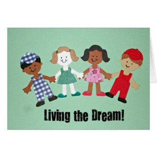 Cartão Vivendo o sonho!