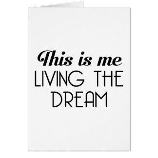 Cartão Vivendo o sonho