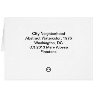 Cartão Vizinhança da cidade
