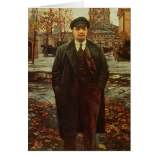 Cartão Vladimir Ilyich Lenin em Smolny, c.1925