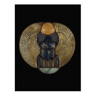 Cartão voado egípcio do escaravelho