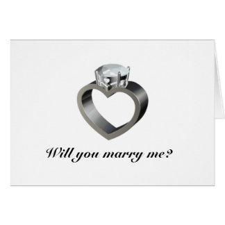 Cartão Você casar-me-á?