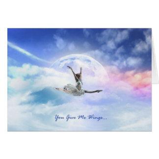 Cartão Você dá-me as asas