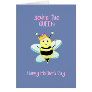 Cartão Você é a ABELHA de rainha!