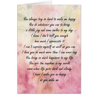 Cartão Você é amado e apreciado