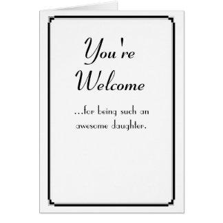 Cartão Você é bem-vindo