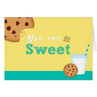 Cartão Você é biscoitos do leite tão doce e dos pedaços