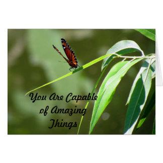 Cartão Você é capaz de surpreender coisas - monarca