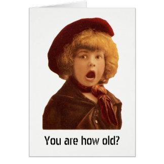 Cartão Você é como idoso?
