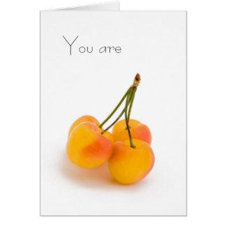 Cartão Você é doce porque a primeira fruta do verão