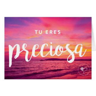 Cartão Você é envelope bonito de Notecard W. do espanhol