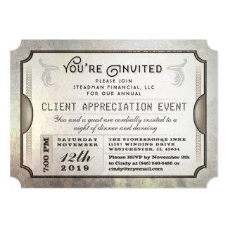 Cartão Você é evento incorporado convidado do bilhete do
