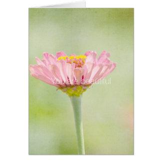 Cartão Você é flor bonita do Zinnia