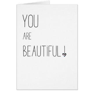 Cartão Você é - LGBT - coração bonito da bandeira do