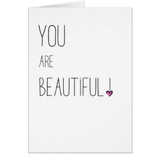 Cartão Você é - LGBT - coração cor-de-rosa bonito