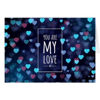 Cartão Você é meu amor, namorados