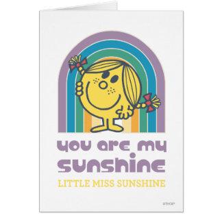 Cartão Você é meu arco da luz do sol
