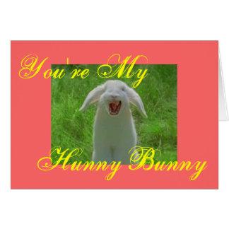 Cartão Você é meu coelho [mau] de Hunny