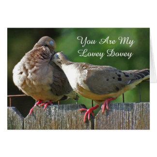 Cartão Você é meu Dovey bonito e eu Coo somente para você