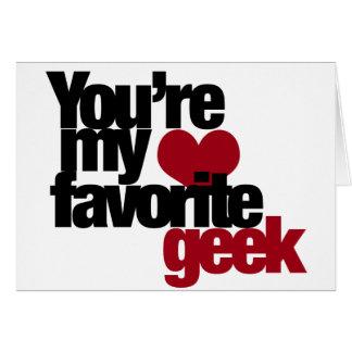 Cartão Você é meu nerd favorito