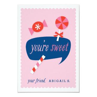 Cartão Você é namorados doces da sala de aula