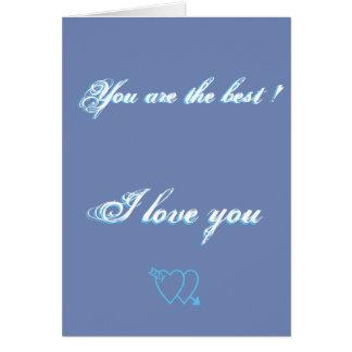 Cartão Você é o melhor