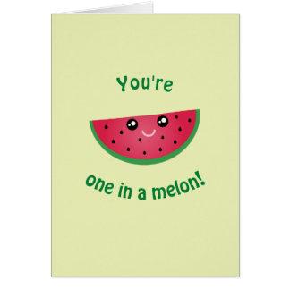 Cartão Você é um em um feliz aniversario bonito engraçado