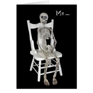 Cartão você-esqueleto da falta na cadeira