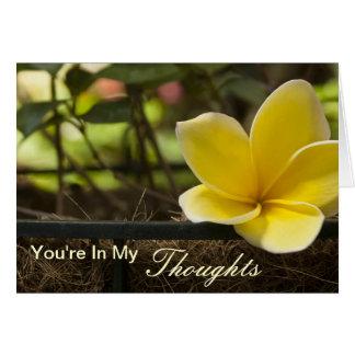 Cartão Você está em meus pensamentos