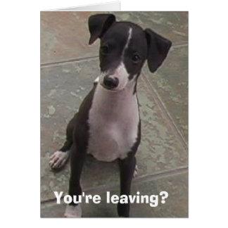 Cartão Você está saindo?