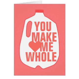 Cartão Você faz-me inteiro