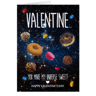 Cartão Você faz meu dia dos namorados do doce do universo