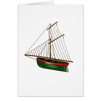 Cartão Você flutua meu barco do vintage