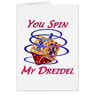 Cartão Você gira meu Dreidel