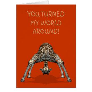 Cartão Você girou meu mundo ao redor