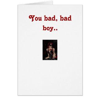 Cartão Você menino mau.