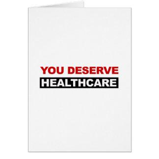 Cartão Você merece cuidados médicos