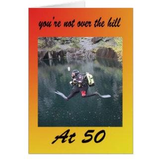 Cartão Você não está sobre o monte em 50